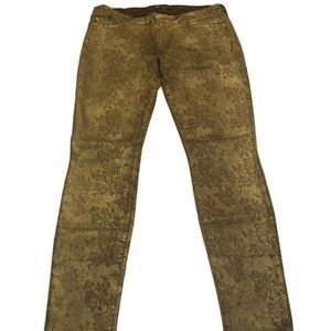 Womens 7 FOR ALL MANKIND Gold Floral Coating 32x30
